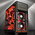 Custom Gaming PC Corsair Obsidian Red